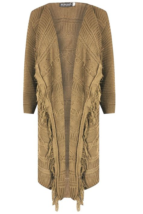 cable knit open front cardigan womens cardigan chunky cable knit tassel