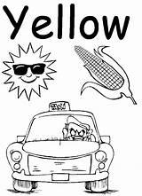 Preschool Worksheets Coloring Worksheet Colors Yellow Popular sketch template