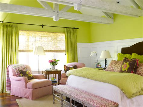 Pink And Green Girl's Room-transitional-girl's Room