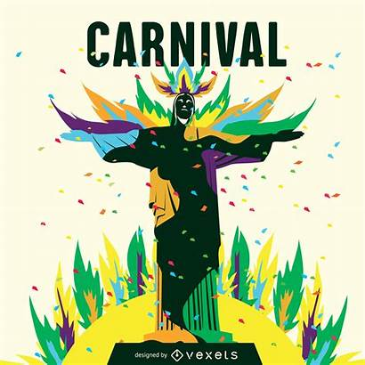 Rio Carnaval Illustration Carnival Poster Posters Vexels