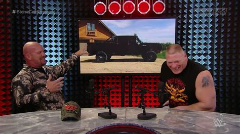 brock lesnar tells stone cold hes  dodge guy shows