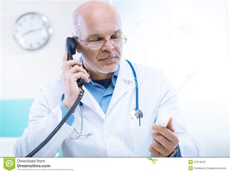 the phone doctor doctor on the phone royalty free stock photos image