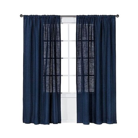 Nate Berkus Curtains Burlap by 25 Best Ideas About Navy Blue Curtains On