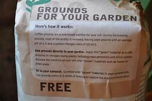 the bumbling gardenista coffee ground for gardening