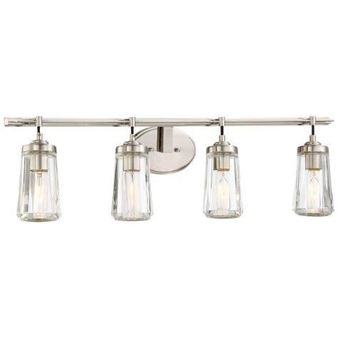 Minka Lavery Bathroom Lighting by Minka Lavery Poleis 4 Light Brushed Nickel Bath Light 2304