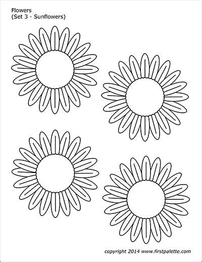 flowers  printable templates coloring pages