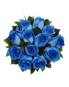 Transparent Blue Flower Bouquets Roses