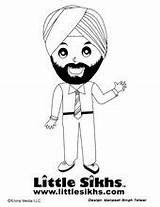 Sikh Coloring Pages Colouring Sheets Sikhism Singh Sikhs Mr Babysitting Fun Books Gurbaani Tv sketch template