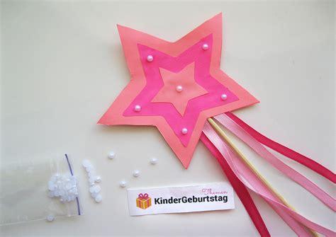 zauberstab basteln zum feen kindergeburtstag die
