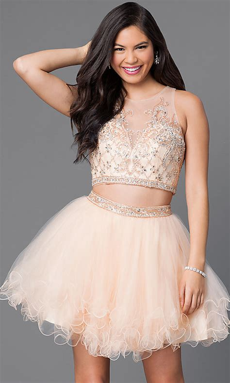 Sweetheart Two-Piece Short Homecoming Dress - PromGirl