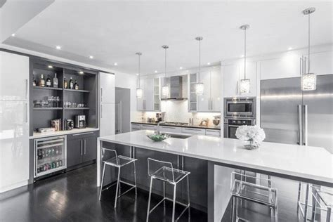 white and gray kitchen modern white grey kitchen design oakville modern Modern
