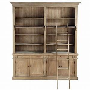 Leiter Für Bücherregal : b cherregal aus recyclingholz mit leiter b 200 cm ~ Michelbontemps.com Haus und Dekorationen