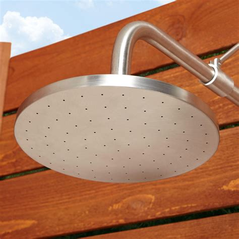 Stainless Steel Pull Chain Wallmount Outdoor Shower