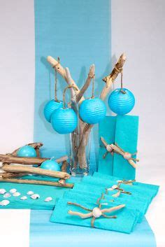 deco table bois flotte decoration mariage bleu blanc mariage bleue fleurs