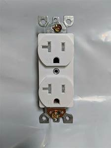 100 Pc  Standard Duplex Outlets 20a Receptacle 20 Amp Tamper Resistant White Tr