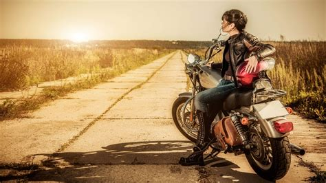 Download Biker Girl 4k Wallpaper For Desktop, Mobile