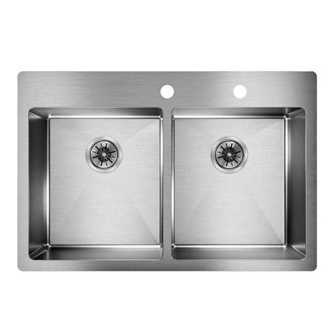 drop in stainless steel kitchen sinks 33 x 22 elkay crosstown drop in undermount stainless steel 33 in