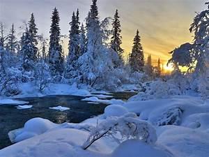 Winter, River, Nature, Trees, Landscape, Hd, Wallpaper