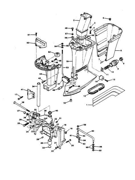 chrysler  hp  motor leg parts