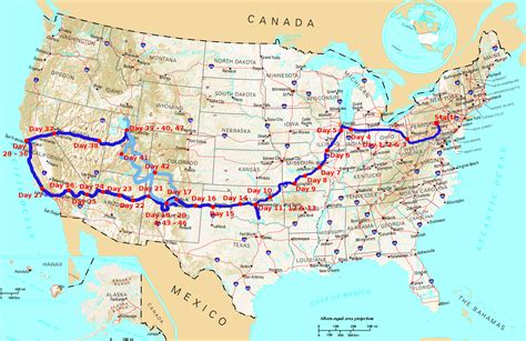 route  usa map