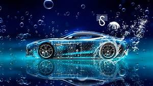 Aston Martin Vanquish Side Under Water Car 2015 Wallpapers