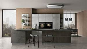 Gallery of cucina creo kitchens britt moderna polimerico opaco grigio Cucina Moderna Grigia