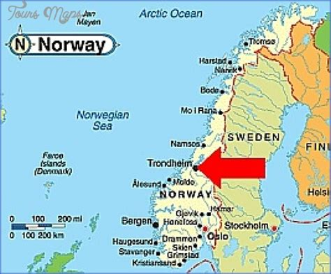 Tromso Northern Lights by Trondheim Norway Map Map Travel Holiday Vacations