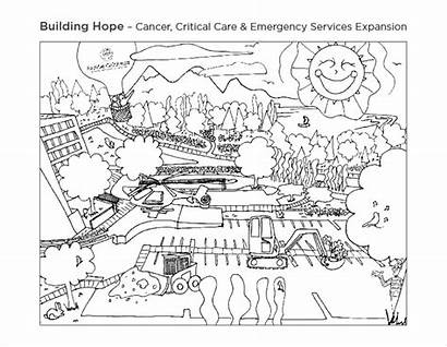 Construction Coloring Sheet Building Hope Grateful Planning
