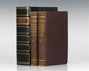 Capital Karl Marx First Edition Das Kapital Rare
