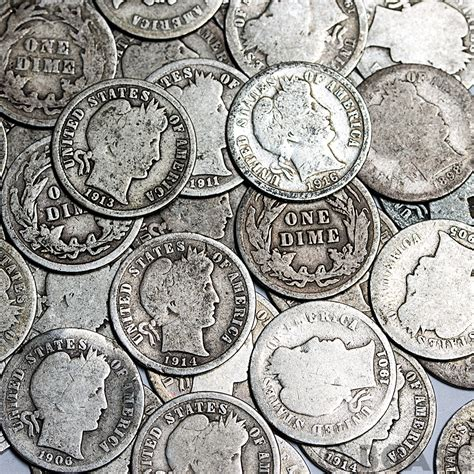 how many dimes are in a roll buy 90 silver barber dime roll 50 coins 90 percent silver 90 silver dimes buy gold and