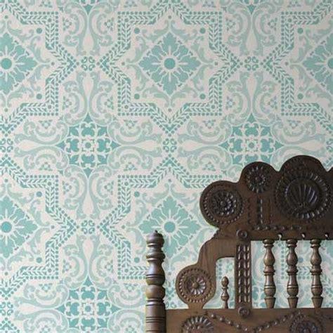 royal design studio allover wall stencil lisboa tile stencil royal design