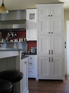 White Craftsman Style Traditional Kitchen
