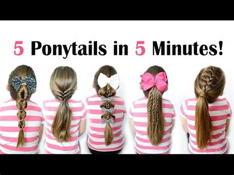 5 ponytails in 5 minutes Quick and easy ponytail