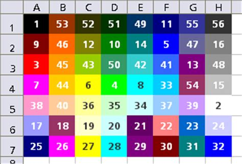 color index asap utilities for excel 187 create a colorindex table