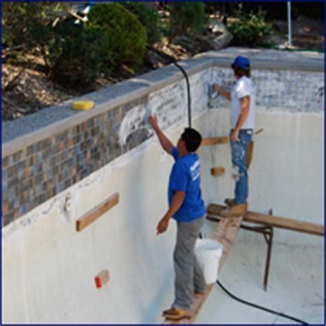 central pools and spas gunite renovations pool plaster pebbletec coping tile resurfacing