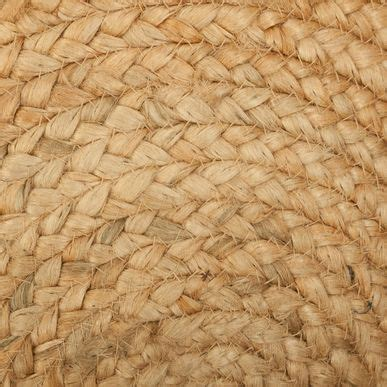 tapis rond tisse jute  cm kalico