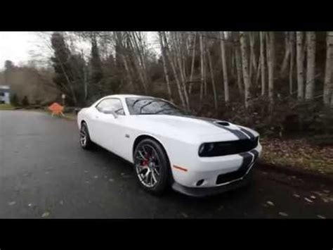 dodge challenger srt white fh bellevue seattle ss car youtube