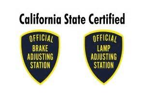 Brake And L Inspection San Diego by Brake L Certification San Diego Brake And L