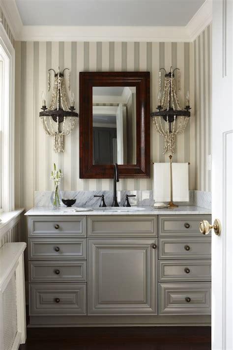 gray bathroom cabinets transitional bathroom