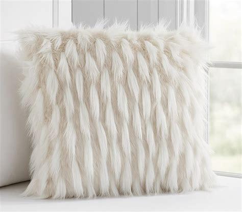 faux fur decorative pillows high low faux fur decorative pillow pottery barn