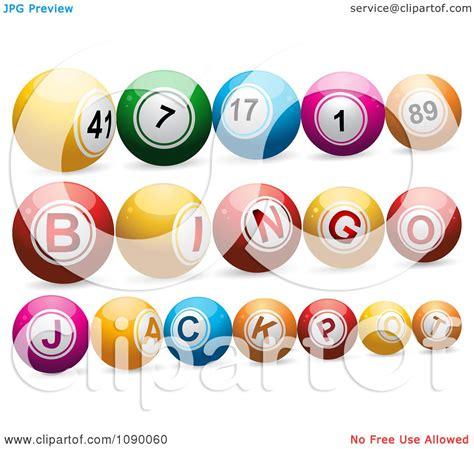 clipart  lottery bingo  jackpot balls royalty