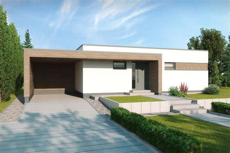 bungalow flachdach bauen moderner flachdachbungalow gomera gussek haus