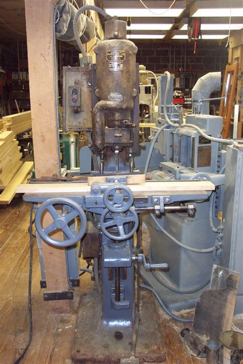 machine  making mortises  sash  door components