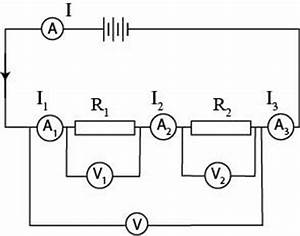resistance current and potential difference in series circuit With potential change in a series circuit