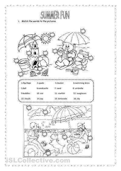 7 Best Images Of Printable Summer Worksheet Sheets  Fun Kindergarten Worksheets, Free Printable
