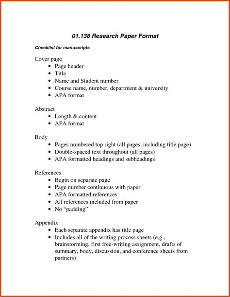 Resume Apa Format by Apa Outline Format Moa Format