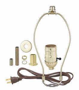 Brass Table Lamp Wiring Kit With 3