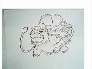 How to draw mega venusaur from pokemon (tutorial, step-by ...
