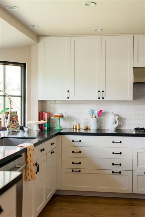white cabinets with black hardware kitchen ideas white cabinets black countertop interior