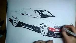 Drawing Nissan Silvia S13